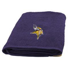 Minnesota Vikings NFL Applique Bath Towel