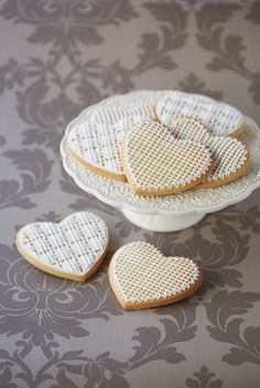 #CakeDecorating Lacy Heart #Cookies