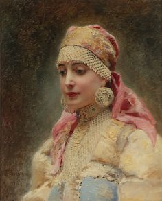 Konstantin Yegorovich Makovsky, Portrait of a Boyarynya, (not dated)