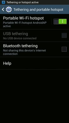 How To Use Portable Hotspot Settings On Samsung Galaxy S4 - Galaxy S4