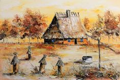 WIEJSKA CHATA Radosław Popek Painting, Art, Art Background, Painting Art, Kunst, Paintings, Performing Arts, Painted Canvas, Drawings