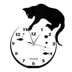 現代アートなモダン キャンバスアート 壁 壁掛け 時計  壁時計 いたずらな猫アクリル壁時計【納期】お取り寄せ2~3週間前後で発送予定【fs04gm】ポイント【楽天市場】