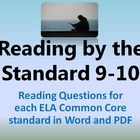 9th and 10th grade ELA Common Core questions for each of the Reading Lit Standards. Use them for Summer Reading or Required Reading throughout the year! This learning packet includes each of the ELA CC standards with a specific question designed to meet the standard. Students will provide text-based evidence, analysis and connections to their lives and the world around them. For any book, any level, any reader. PDF and MS Word doc allows teachers to download and photocopy or edit as needed.