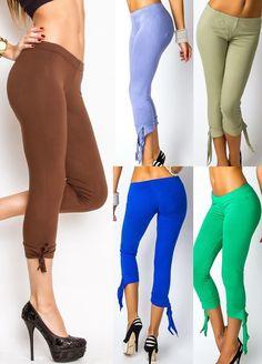 Leggings,Hüfthose Legging,Capri Hose Stretch Leggin Jeggin 36/38,38/40,5 Farben