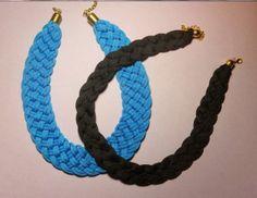 .Decorate tu misma.: Estupendos collares hechos con cordones de zapatillas, ideales para regalar esta Navidad!