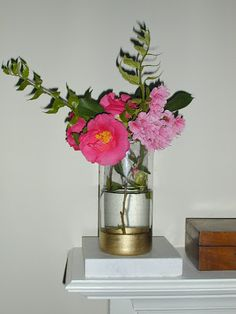 Keen and Fitting - DIY flower vase with gold leaf pen