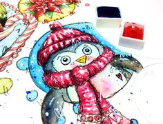 Cre8tive Cre8tions by Andrea Gomoll | Artsy Advent Calendar – December Daily Art – Week 1 Summary | http://andrea-gomoll.de