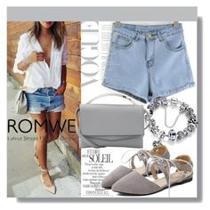 """""""Grey Romwe"""" by mila96h ❤ liked on Polyvore featuring Eddie Borgo and romwe"""