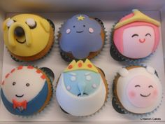 Adventure Time character cupcakes  www.creationcakes.org.uk
