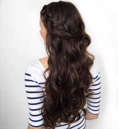 """Luxy Hair on Instagram: """"Long Chocolate Brown #luxyhair on @forbeslaura  (mmm...chocolate ) Who wants to see a tutorial on this hairstyle? """""""