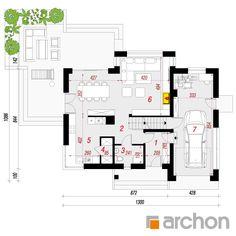 Dom pod liczi 5 (P) Cottage Plan, Cottage Style Homes, Design Case, Modern House Design, Home Fashion, Traditional House, Planer, Bungalow, Villa