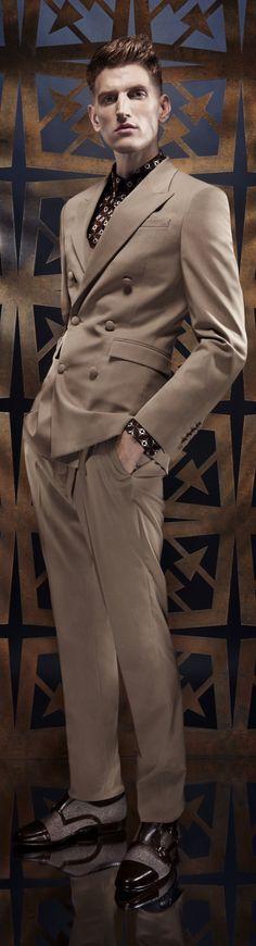 Gentlemen: #Gentlemen's fashion ~ Men's Double Breasted Suit, by Roberto Cavalli.