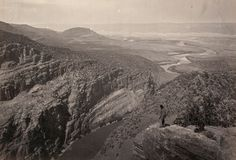 Landscape: Browns Park, Colorado, as seen by Timothy O'Sullivan in 1872 as he chartered the landscape for the first time. century sepia-tinted pictures of the American West Colorado, Mandala, American Frontier, Old West, Historical Photos, American History, Native American, American Women, American Indians