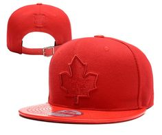 NHL TORONTO MAPLE LEAFS STRAPBACK HATS CAPS REDS 005|only US$8.90