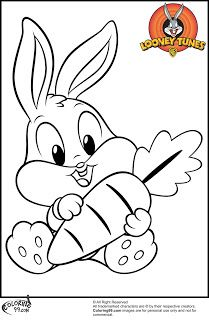 baby bugs bunny coloring pages