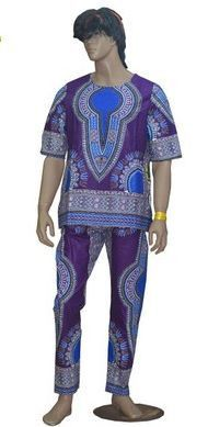 2016 New african 100% wax batik fabric Dashiki dresses suit T-shirt and pants for Adult african traditional clothing bazin riche