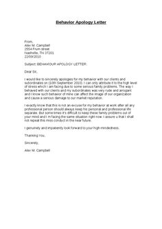 Business Letter Of Apology For Poor Service Image collections