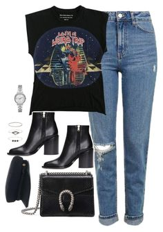 """Untitled #3488"" by theaverageauburn on Polyvore featuring Topshop, Balenciaga, Marni, Gucci, Accessorize and Michael Kors"