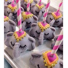 Elephant cake pops by #kerricupcake