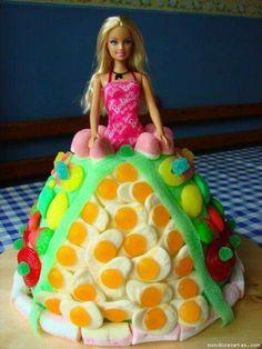 Barbie snoep taart