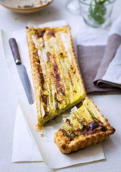 Tarte aux poireaux, au parmesan et au thym - Ôdélices : Recettes de cuisine faciles et originales !