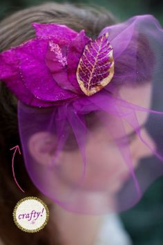 how to make a sparkly floral fascinator... will be doing this! so fabulous, even for other dressy things besides weddings