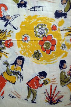Fuller Fabrics DeGrazia print fabric samples c.1952-1956.
