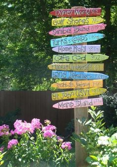Make a sign of all the places you've been together!   http://craftyfunnyyummy.blogspot.com/2012/08/make-it-mondays-inspirations.html