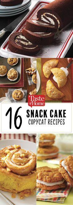 16 Snack Cake Copycat Recipes