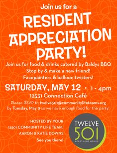 Join us for a Resident Appreciation Party!