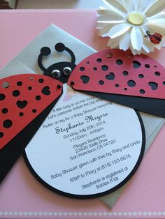 Hey, I found this really awesome Etsy listing at https://www.etsy.com/listing/200331438/ladybug-baby-shower-invitation-lasercut