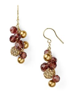 Carolee Color Theory Cluster Drop Earrings