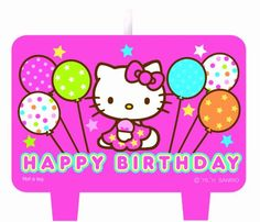 Hello Kitty Party Supplies 4pc Birthday Candle Set » Pink Hello Kitty » Shop Hello Kitty — All your Hello Kitty Products Here!