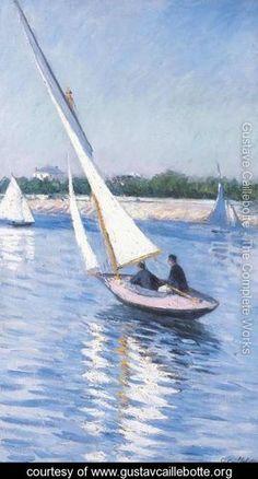 Violiers sur la Seine au Argenteuil -Gustave Caillebotte