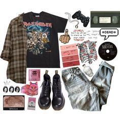 ootd 12/27/14 by nekoprincess on Polyvore featuring Golden Goose, Dr. Martens, Sony, NARS Cosmetics and vintage