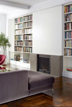 Good No Cost Fireplace Remodel Style Top Cool Tips: Small Limestone Fireplace fireplace wall bookshelves. Tv Over Fireplace, Modern Fireplace, Fireplace Wall, Fireplace Design, Limestone Fireplace, Fireplace Candles, Cottage Fireplace, Fireplace Seating, Simple Fireplace