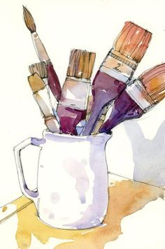 7 posts published by Shari Blaukopf during December 2012 Watercolor Sketchbook, Watercolor Projects, Watercolor Images, Pen And Watercolor, Watercolor Landscape, Watercolor Illustration, Watercolour Painting, Painting & Drawing, Watercolours