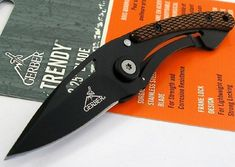 Pin It :-) Follow Us :-))  zCamping.com is your Camping Product Gallery ;) CLICK IMAGE TWICE for Pricing and Info :) SEE A LARGER SELECTION of folding knives at http://zcamping.com/category/camping-categories/camping-knives-and-tools/folding-knives/ -  hunting, camping, camping knives, camping gear, camping accessories - Gerber 326 Black Trendy Pocket Money Clip Folder Checkered Wood Handle Knife « zCamping.com