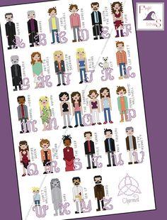 Charmed themed alphabet cross stitch  PDF Pattern  INSTANT