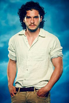 His look and eyesI fall in love with his hairShe is like always wonderfulLove her . Got Jon Snow, John Snow, Beautiful Boys, Gorgeous Men, Pretty Men, Lord Eddard Stark, Arya Stark, Kit And Emilia, Kit Harrington