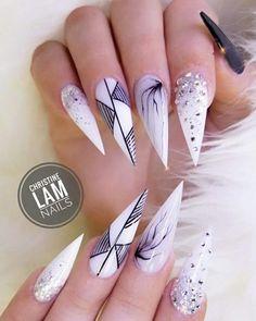 Black and white @christine__nails