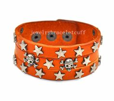 Bangle leather bracelet Snapper bracelet by jewelrybraceletcuff, $9.00
