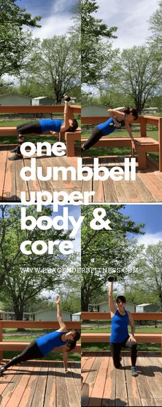 One Dumbbell Exercises Upper Body and Core When Equipment is Limited — Lea Genders Fitness Dumbbell Exercises, Dumbbell Workout, Speed Workout, Strength Training For Runners, Interval Running, Overhead Press, Gym Membership, Hip Ups, Fit Board Workouts