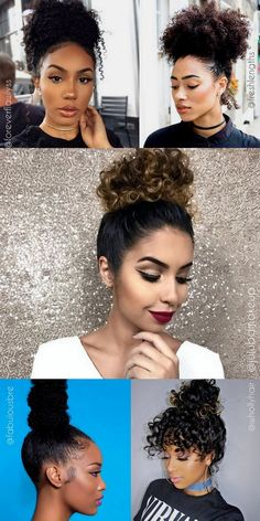 New hair wedding pin up hairdos Ideas Up Hairdos, Curled Hairstyles, Girl Hairstyles, Long Natural Hair, Natural Hair Styles, Hair Day, New Hair, Medium Length Hair Up, Easy Braided Updo
