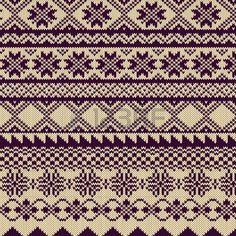 Gestrickte Hintergrund mit Muster in Fair Isle Stil Lizenzfreie Bilder