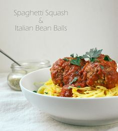 "Italian Bean ""Meat"" Balls. Back in my meat eating days, I loved meatballs! This was a nice take on meatballs, and were tasty when combined with sauce and pasta/squash. I've seen a few recipes with lentils rather than beans, which I'll try next."