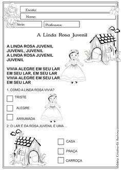 Atividade A Linda Rosa Juvenil Pet 5, Music Activities For Kids, Letter E Activities, Creative Activities, Literatura, Autism