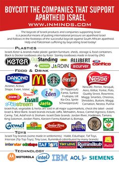 SHOP THESE COMPANIES.  SUPPORT ISRAEL!!!  | I'm using this as a list of companies to SUPPORT! I will support whoever supports Israel!