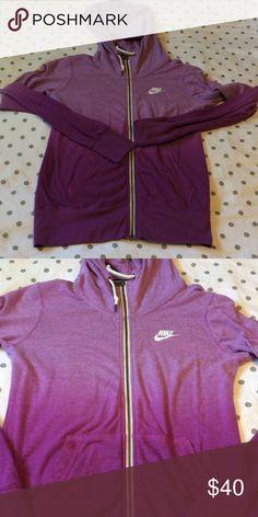 Nike hoodie purple ombré small Perfect condition purple ombré Nike hoodie. Light weight perfect for spring and summer. Vintage Nike feel Nike Tops Sweatshirts & Hoodies