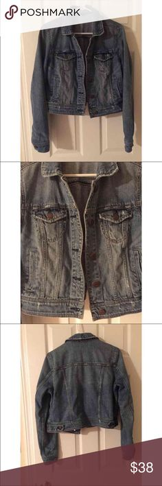 American Eagle Light Distressed Denim Jacket - L American Eagle Light Distressed Wash Denim Jacket. Size L. In excellent condition! From a smoke-free home as well. No trades. I'm also on Mercari! Listed for less $$ on Merc. American Eagle Outfitters Jackets & Coats Jean Jackets